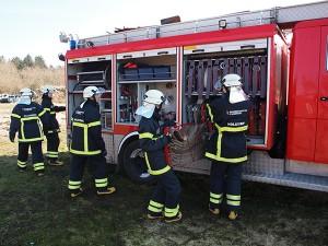 Brandkadetter brandbil