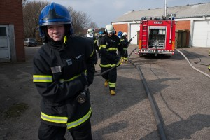 Brandkadetter på Beredskabsgården Særkjær