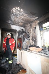 Brandmand i køkken